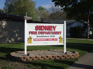 Sidney Fire Station Sign